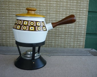 Vintage Fondue Set, Mid Century Fondue Pot, Retro Entertainment & Dining