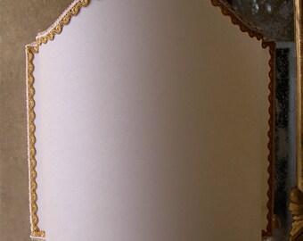Venetian Lamp Shade Cream Parchment Half Shield Shade - Handmade in Italy
