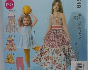 Girls Halter Dress Pattern, Leggings Pattern, Shrug Pattern, Summer Dress