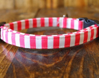 Sale Nautical Pink stripe Girl Dog Collar