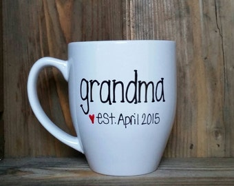 Pregnancy announcement mug, grandma mug, grandpa mug, grandparent mug, new grandparents, pregnancy reveal gift