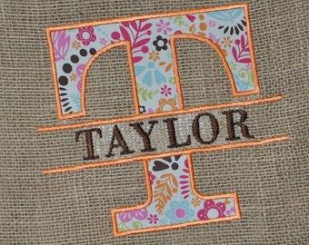 Split Font Applique Embroidery Design Set - Instant Download