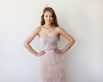 Ballerina Strapless pink stretchy top 2007