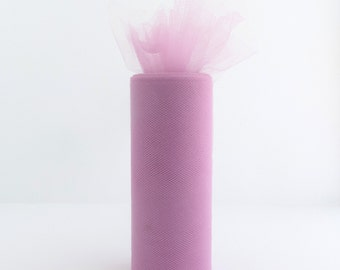 6 Inch Tulle Spool 25 Yards Mauve- 1