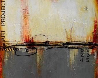 "Urban Loft Art, Abstract, Acrylic, Original Wall Art on Canvas by Sarah Ettinger, Size 24"" x 30"""