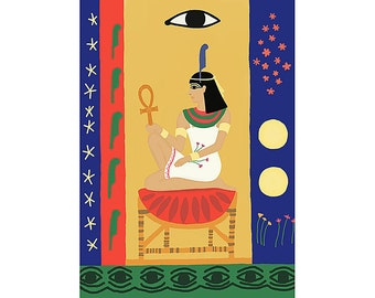 The Egyptian Goddess Maat print medium size