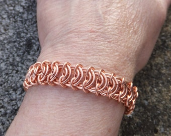 Vertebrae Kingscale chainmaille copper bracelet