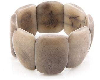 Tagua Nut Bracelet / Tagua Jewelry / Tagua Bracelet / Statement Bracelet / Seed Jewelry / Fair Trade / Grey Bracelet / Tagua Nut