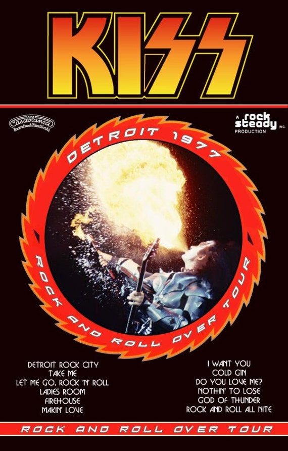 KISS Army KISS Collectibles KISS 1977 Rock And Roll Over Tour Stand-Up Display - Kiss Band Kiss Concerts Kiss Poster Kiss T Shirt kiss76