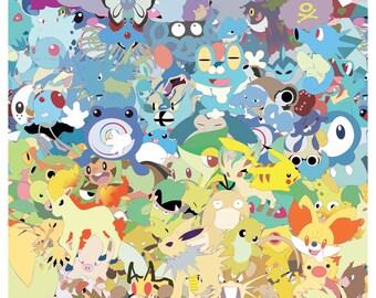 Pokepals Palooza of Pokemon Poster (11 x 17)