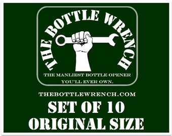 SET OF 10 - The Bottle Wrench Bottle Opener - Original - Your Choice of Cord Colors