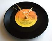 "BILLY JOEL Vinyl Record CLOCK ""Uptown Girl"" recycled 7"" single or choose your favourite song, retro 1980s music orange yellow ombre 80s wall"