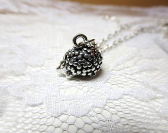 super sale Hedgehog  necklace  -bronze Tiny Hedgehog  necklace- silver Hedgehog pendant   with  Free  gift