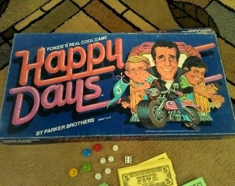 Vintage 1976 The FONZIE'S HAPPY DAYS 1976 Board Game Parker Brothers