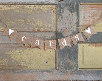 Wedding Cards Banner / Wedding Cards Sign / Cards Banner