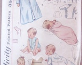 1960s Simplicity Infant Baby Pattern Uncut Not Used