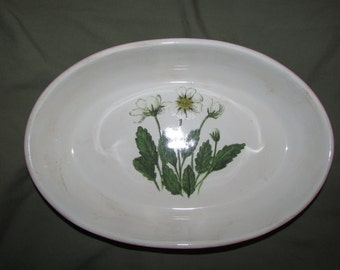 Vintage Loucarte Portigal white flower serving bowl