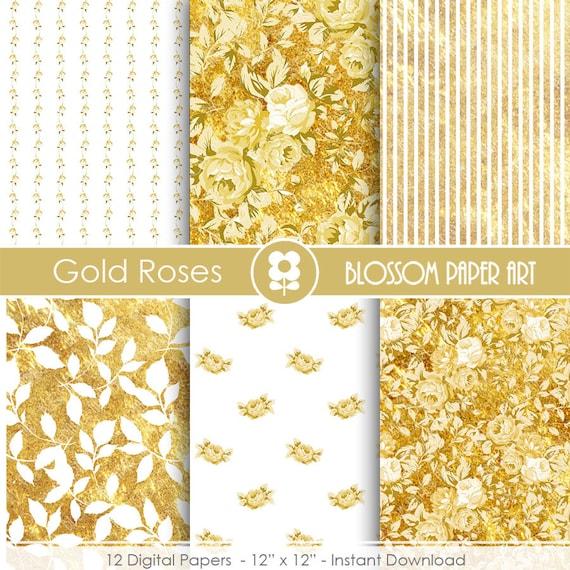 Papel decorativo dorado papeles decorativos por - Papeles decorativos de pared ...