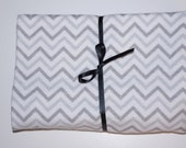 Extra Large Receiving/Swaddle Blanket - Chevron Gray  36x42