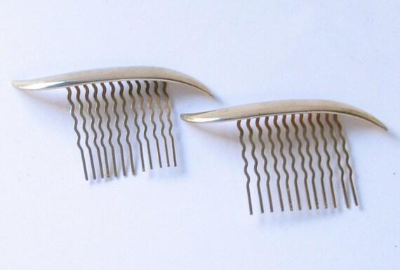 Vintage 1920s Goldtone Hair Combs