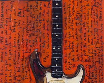 Stratocaster Art. Rory Gallagher 1961 Vintage Fender Stratocaster. vintage electric guitar