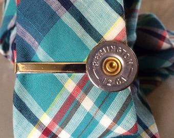 Bullet tie clip 12 gauge shotgun groomsmen duck hunt tie tack mens groomsmen gift camo wedding
