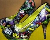 ON SALE Batman Good vs. Evil Custom Shoe