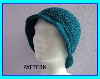 Crochet Pattern Lady's Brimmed Hat Digital Download Flapper Hat Pattern