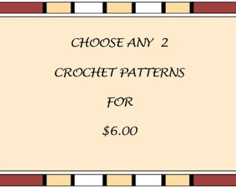 Crochet Pattern SALE 2 PDF