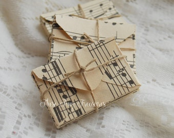 Vintage Music Miniature Envelopes, Teeny Tiny Envelopes, Mini Envelopes, Vintage Music, Vintage Paper, Music Paper, Music Gift