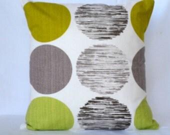 STORE CLOSING SALE Pillows decorative pillow accent pillow throw pillow designer pillow sofa pillow green olive brown cuhison 18x18 inches