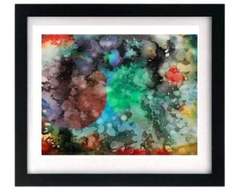 11 x 8.5 Limited Edition Signed Abstract Expressionism Starving Art Print - 8.5 x 11