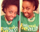 Natureal Beauty (Crew Neck) - Kelly Green- XL