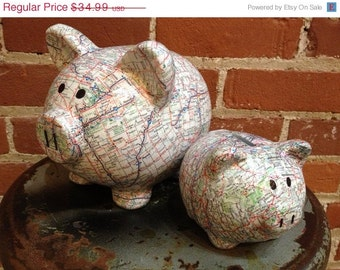 On sale the original road trip fund ceramic piggy bank for Travel fund piggy bank