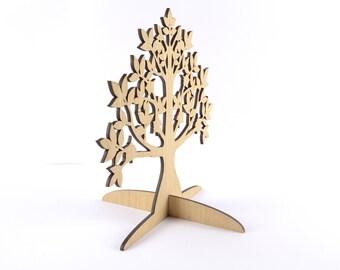 Wooden Jewelry Tree / Earring Holder / Jewelry Stand / Jewelry Organizer