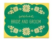 Wedding Flowers Wood Wedding Congratulations Card • WC1360