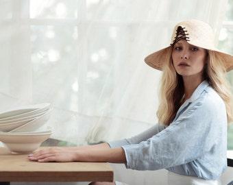 Women Summer Hat , Straw Hat For Women , Panama Hat ,  Beach Hat, Sun Hat, Justine Hats