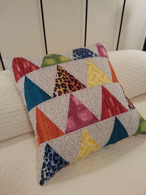 Modern Quilted Pillow Covers : SALE Modern Quilted Pillow Cover.