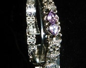 Sterling Silver Amethyst Bracelet set matching earrings and necklace available separate sale
