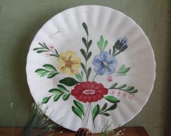 "Blue Ridge Flutter Pattern Dinner Plate,  9 1/4""  Blue Ridge Pottery Company  ( T )"