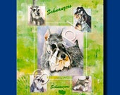 Miniature Schnauzer - GIFT BAGS - full color design on both sides