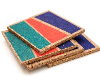 Bright Color Blocked Coasters
