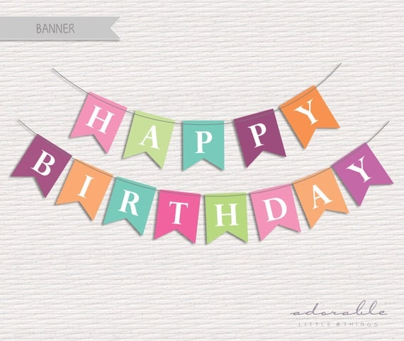 Items Similar To DIY Happy Birthday Banner. Printable