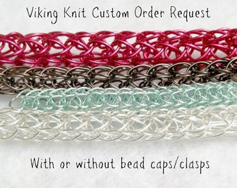 Viking Knit woven metalwork chain - custom work - finished or unfinished - sold by the inch