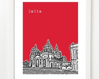 Salta Argentina Art Print - Salta Poster - Argentina Gifts