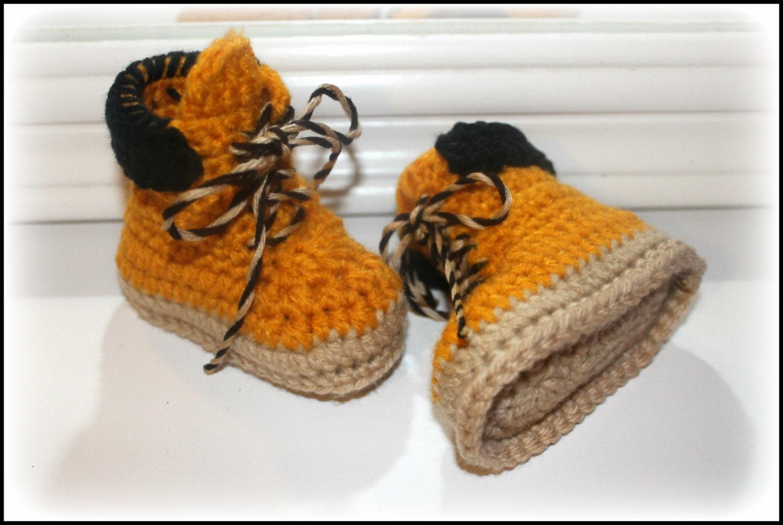 Crochet Baby Work Boots Construction Worker Boots Timberland