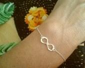 Infinity Bracelet Best Friend Gift  Friendship bracelet Sterling Silver or 14K Gold filled handmade infinity sign