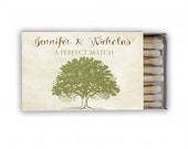 Kelly Collection - Rustic Tree Custom Personalized Matchbook Favor Boxes for Wedding - Guest Favors Sparkler Send Off Gift - Deposit Listing