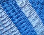 Soft Natural Dish Cloths  Wash Cloths Shades of  Blue