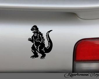 1964 Godzilla Decal, Halloween Decor, Sci Fi Monster, Horror Sticker
